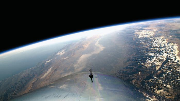 View from Space on Virgin Galactic's First Spaceflight. © Virgin Galactic.